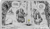 Cave man cartoon